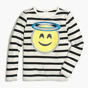 Crewcuts Girls Angel Emoji Graphic Tee Shirt Long